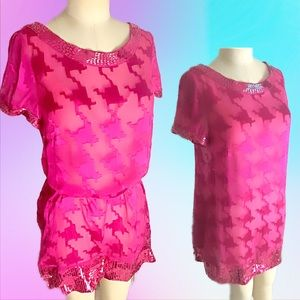 NWT Arden B. Embellished dress in fuchsia size med